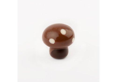 Paddestoel deco melk praline wit/puur 14,5g 2,025kg