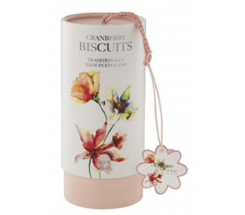 Floral Cranberry biscuits tube 150g 12st