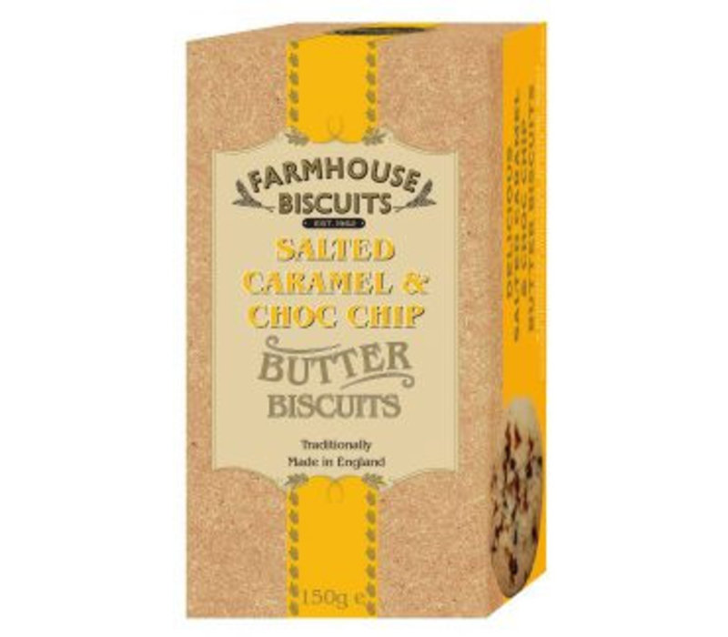 Biscuits Luxery Salted Caramel & Choc.Chip 150g 12st