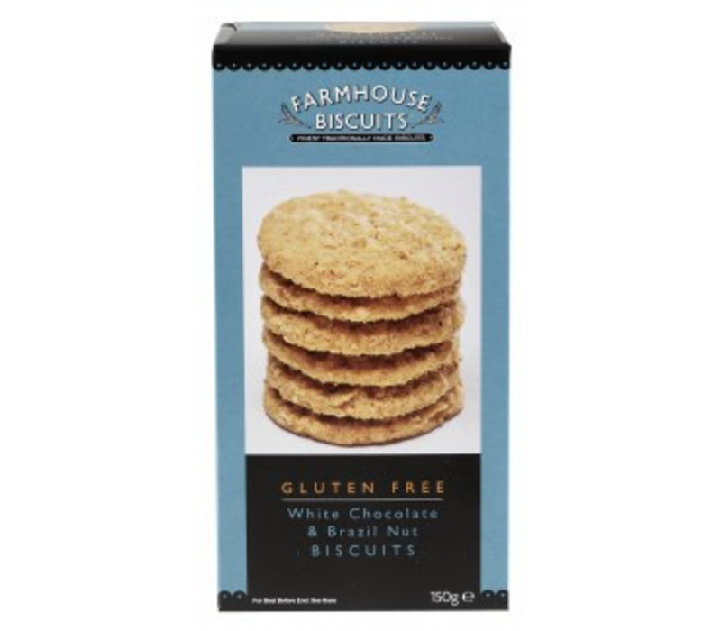 White Chocolate & Brazil Nut biscuits 150g 12 st