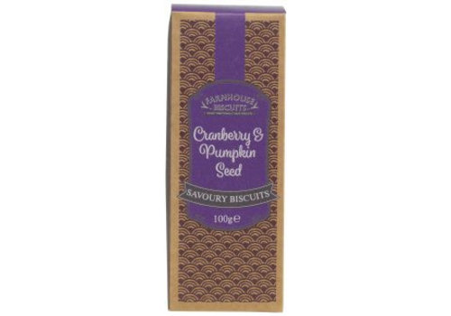 Farmhouse Biscuits Cranberry & Pumpkin Seed savoury biscuits 100g 12st