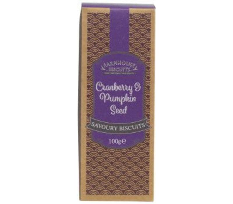 Cranberry & Pumpkin Seed savoury biscuits 100g 12st