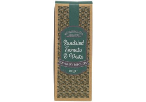 Farmhouse Biscuits Sundried Tomato & Pesto savoury biscuits 100g 12st