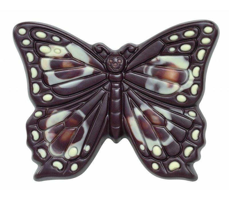 Vlinder deco puur herfst 60g 8cm 12st