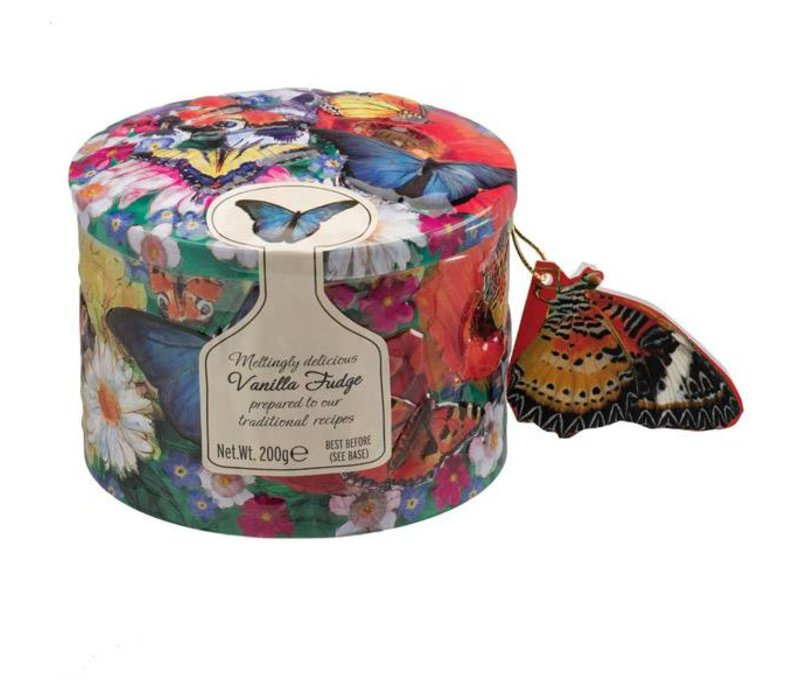 Butterfly/Hummingbird tin ass Fudge 200g 12bl.