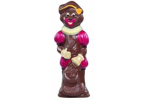 Zwarte Piet deco rood/geel melk 25cm 250g 4st