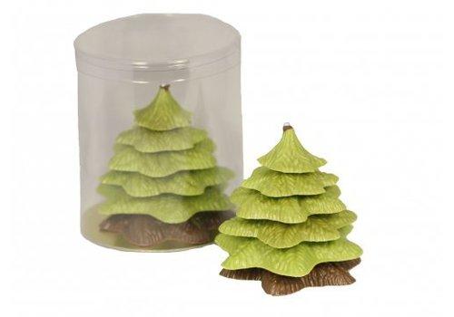 Kerstboom verpakt groen/melk 140g 1st