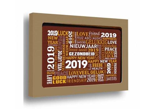 Nieuwjaar 2019 Kaart goud 150g 20st