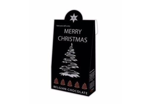 Voor Jou Merry Christmas zwart 100g 6st
