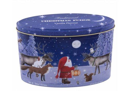 Xmas Santa & Moon Fudge tin 300g 12bl.