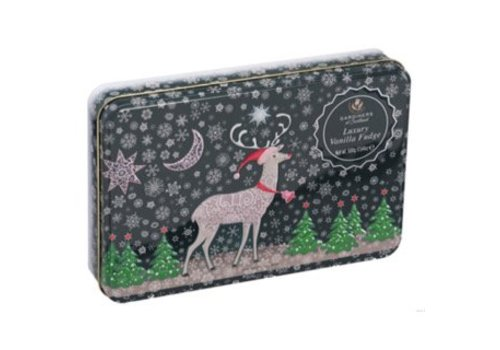 Gardiners of Scotland Reindeer Snow Tin Vanille fudge 500g 6bl.
