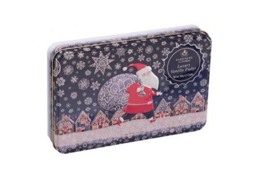 Gardiners Santa Snow Tin Vanille fudge 500g 6bl.