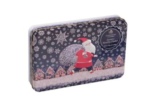Santa Snow Tin Vanille fudge 500g 6bl.