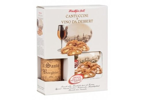 Biscottificio Belli Cantuccini 250g met vin Santo 375ml 10st