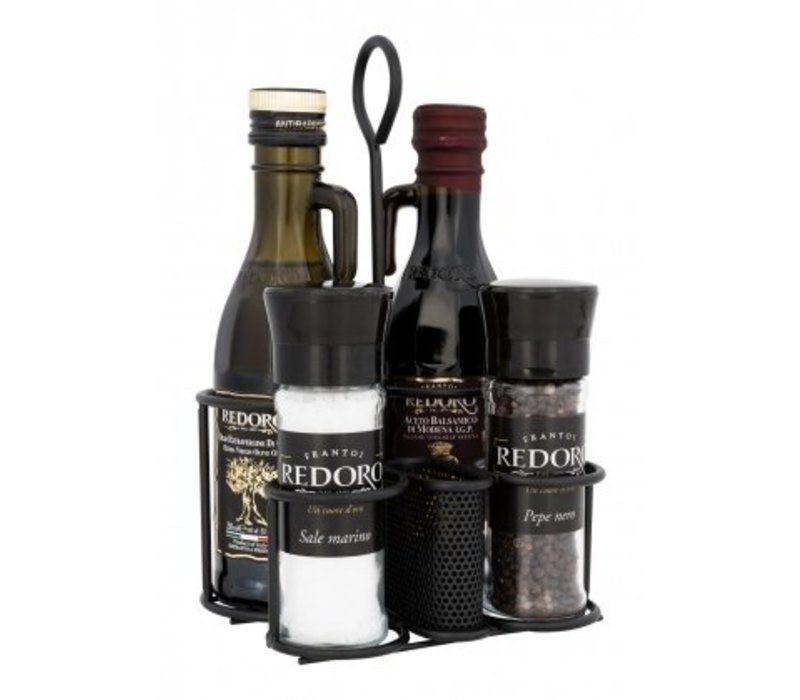 Redoro Olie-Azijn-Peper-Zout  houder
