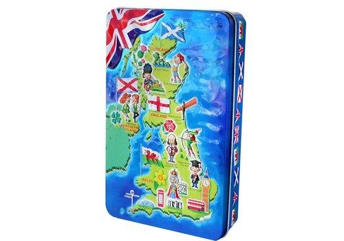 Churchill's Churchill's U.K.Map tin 300g 12bl. NIEUW