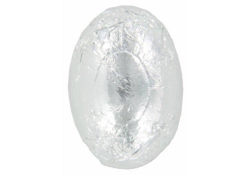 Eitjes staniol zilver wit 8g 3kg