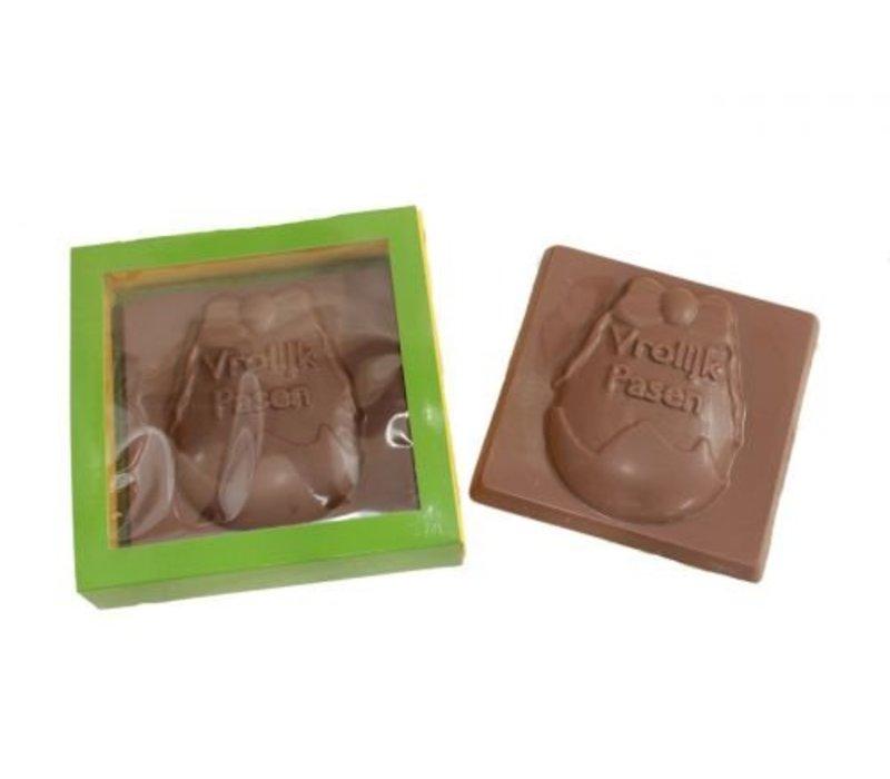 Chocolade plak verpakt Vrolijk Pasen 175g 1st