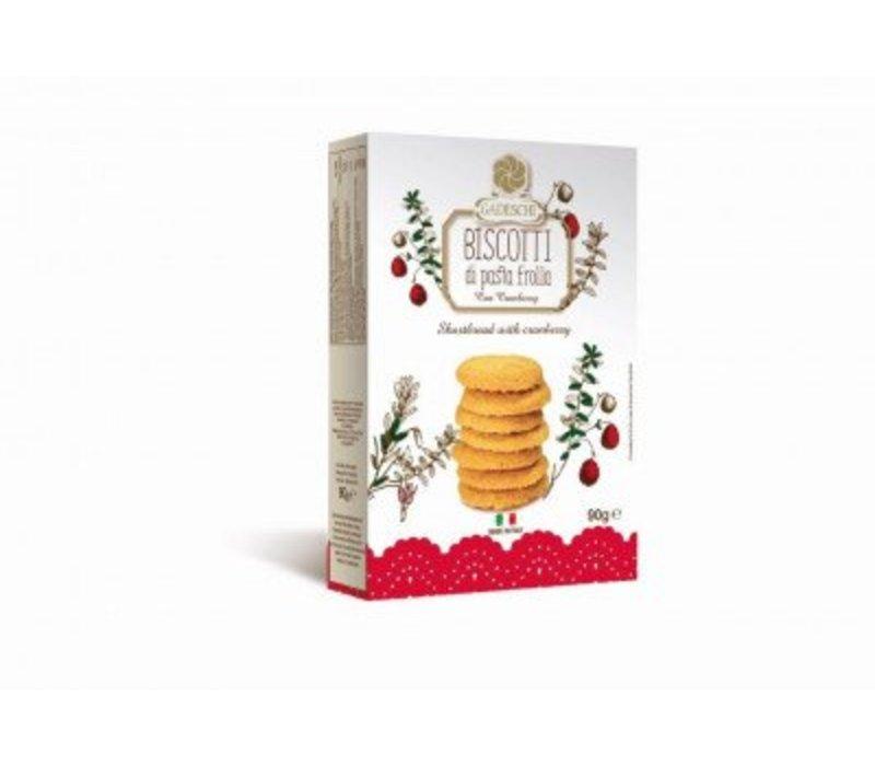 Biscotti di pasta frolla cranberry 90g 16st