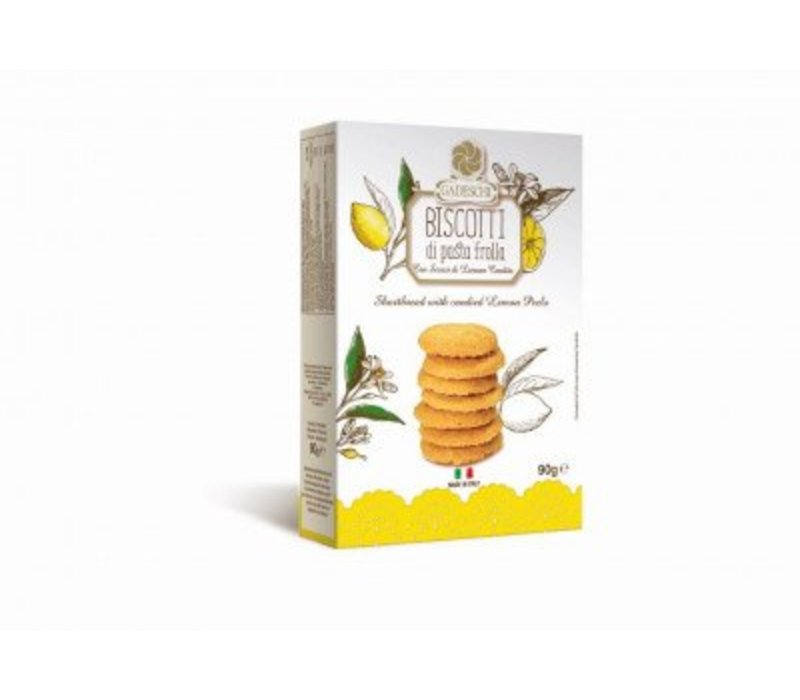 Biscotti di pasta frolla lemon 90g 16st
