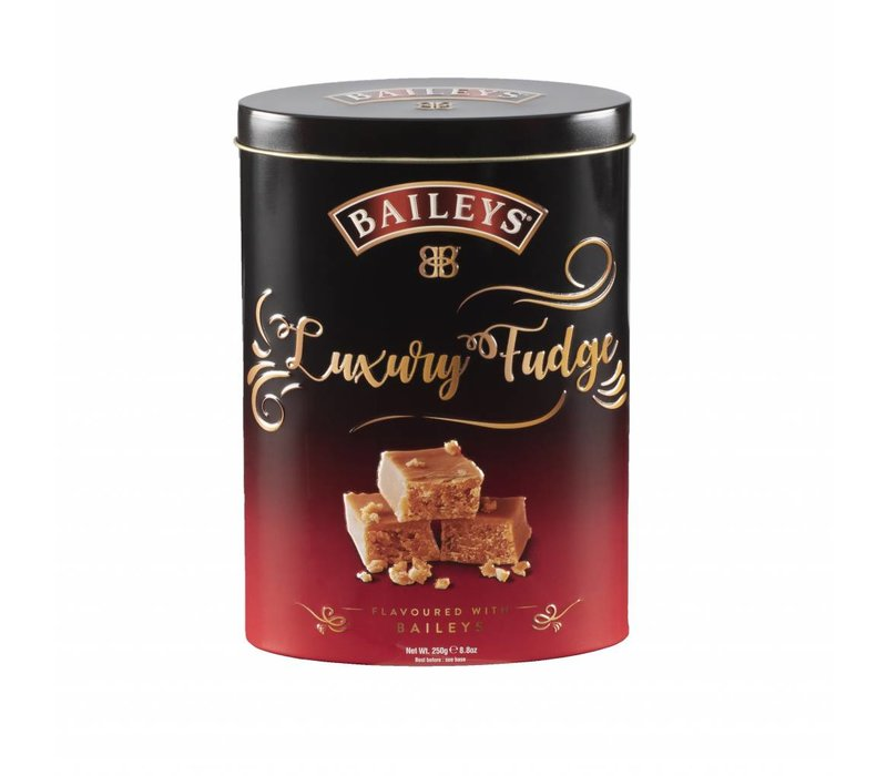 Baileys fudge 250g tin 12bl. NIEUW