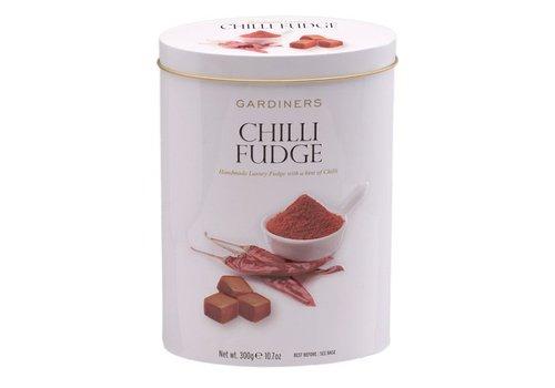 Gardiners Chilli Fudge 300g tin 12bl.NIEUW
