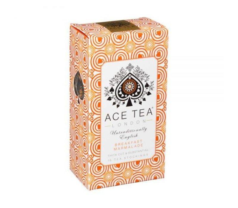 Ace Tea Breakfast Marmalade Tea Carton - 15 Tea Stockings 10st