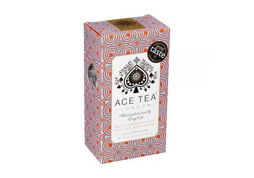 Ace Tea Ace Tea Quintessentially English Breakfast Tea Carton - 15 Tea Stockings 10st