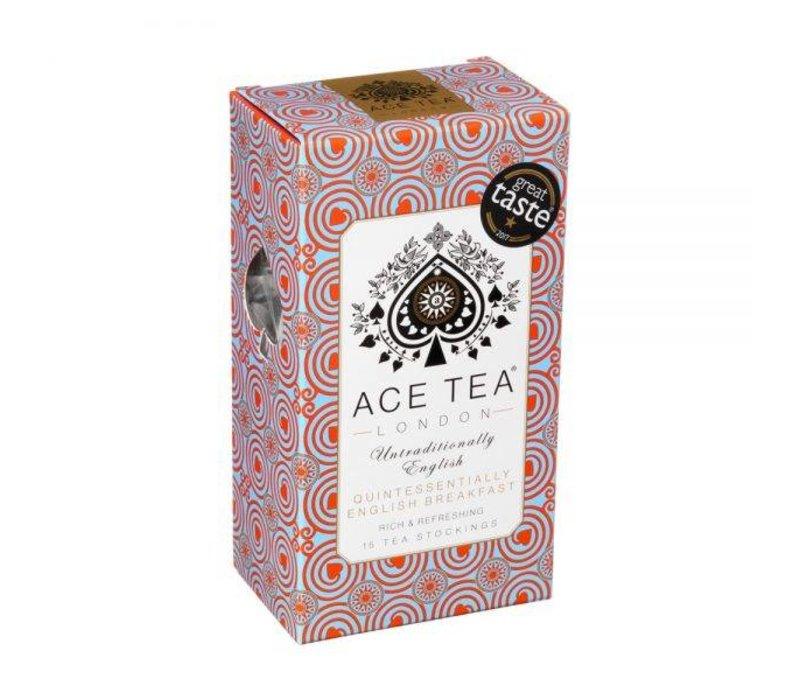 Ace Tea Quintessentially English Breakfast Tea Carton - 15 Tea Stockings 10st