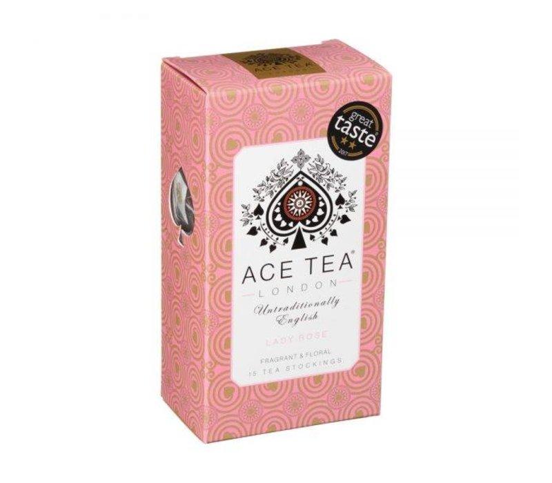 Ace Tea Lady Rose Tea Carton - 15 Tea Stockings 10st