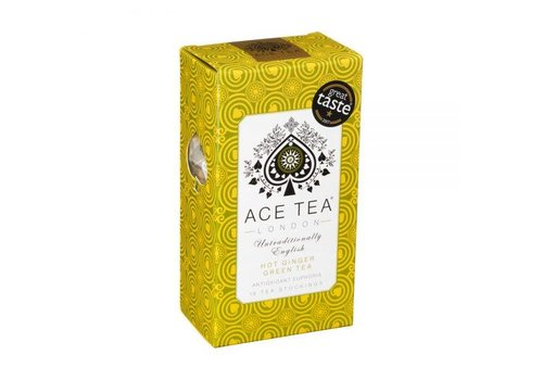 Ace Tea Ace Tea Hot Ginger Green Tea Carton - 15 Tea Stockings 10st