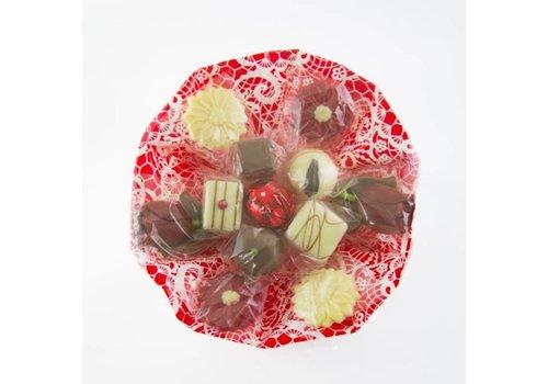 Chocolade boeket 18cm 175g 8st