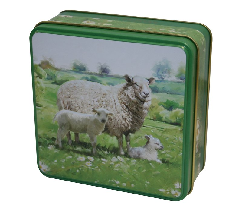 Embossed Sheep in the Country Tin 100g 12st