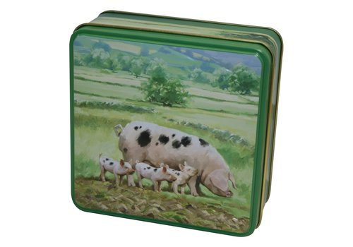 Embossed Pigs in the Country Tin 100g 12st