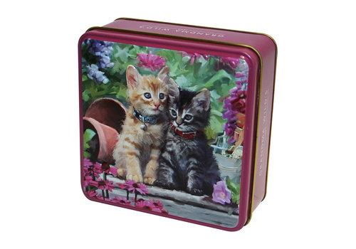 Grandma's Wild Embossed Ginger & Tabby Kitten Tin 100g 12st