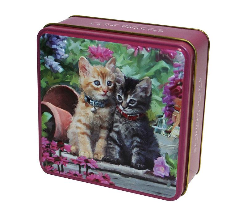 Embossed Ginger & Tabby Kitten Tin 100g 12st