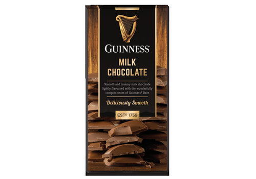 LIR Chocolates Guinness Milk chocolate bar 90g 15st