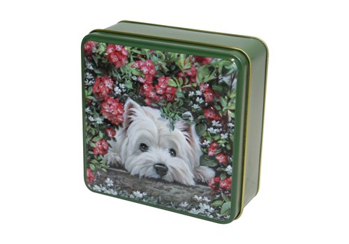 Grandma's Wild Embossed Hiding Westie Dog Tin 100g 12st
