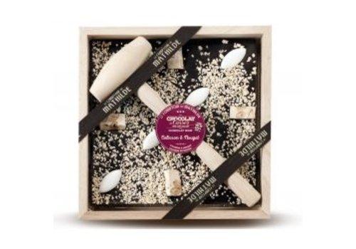 Le Comptoir de Mathilde Chocolats a Casser Calisson & Nougat 400g 4st
