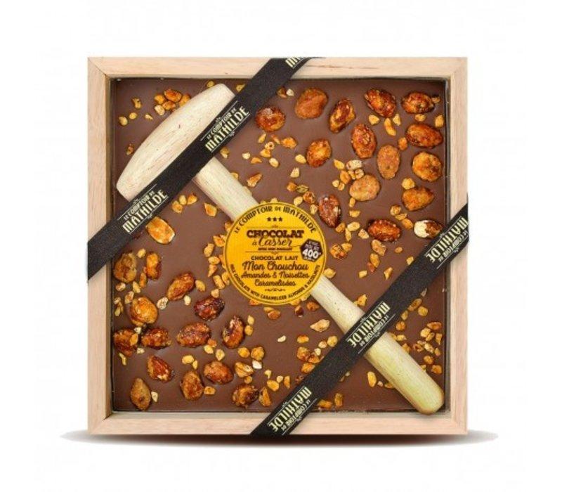 Chocolats a Casser Mon chouchou lait amandes noisettes 400g 4st