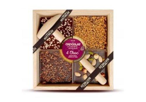 Le Comptoir de Mathilde Chocolats a Casser Noir (Speculoos, Fuits secs, Grué, Calisson/Nougat) 400g 4st