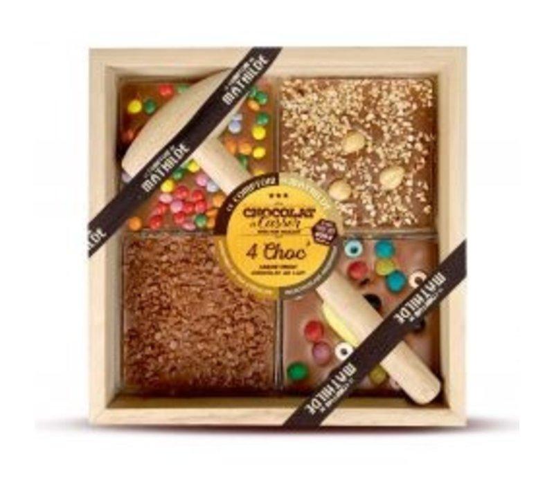 Chocolats a Casser Lait (Surprise partie, Bonbon, Noisette, Caramel beure salé) 400g 4st
