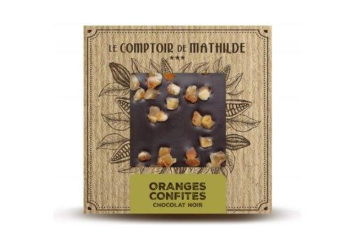 Le Comptoir de Mathilde Tablettes de chocolats Oranges Confites 80g 12st