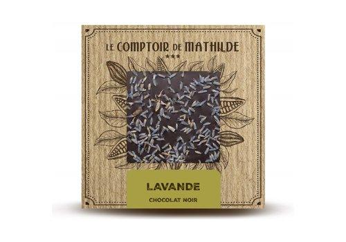 Le Comptoir de Mathilde Tablettes de chocolats Lavande 80g 12st