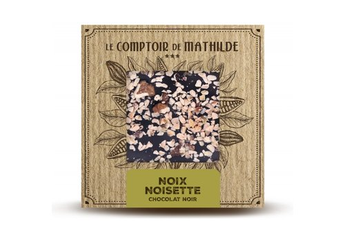 Le Comptoir de Mathilde Tablettes de chocolats Noix-Noisettes caramélisées 80g 12st