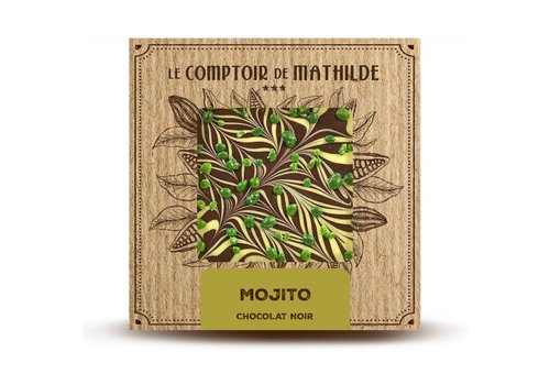 Le Comptoir de Mathilde Tablettes de chocolats Mojito 80g 12st