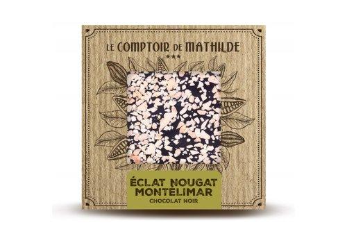 Le Comptoir de Mathilde Tablettes de chocolats Éclats de Nougat de Montélimar 80g 12st