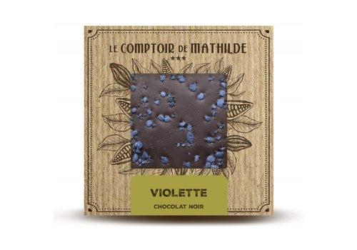 Le Comptoir de Mathilde Tablettes de chocolats Violette 80g 12st