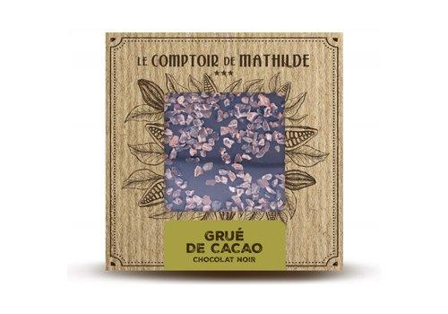 Le Comptoir de Mathilde Tablettes de chocolats Grué de Cacao caramélisé 80g 12st
