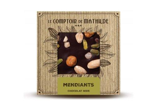 Le Comptoir de Mathilde Tablettes de chocolats Mendiants 80g 12st